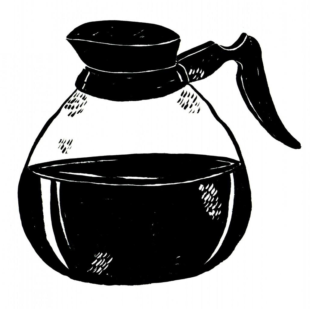coffee pot - black
