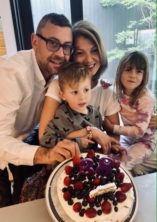 Katerina Nitsou and her family today