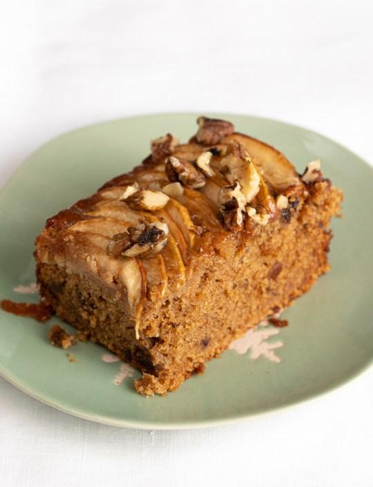 Date, Apple & Walnut cake