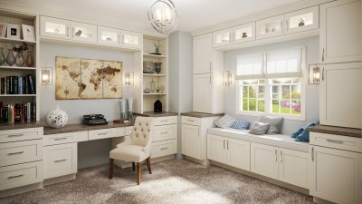 Home Office Shaker Antique White - Kitchen Envy Cabinets