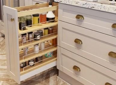 Roll Out Jar Rack - Kitchen Envy Cabinets