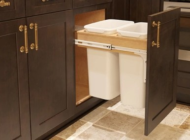 Roll Out Trash Can - Kitchen Envy Cabinets