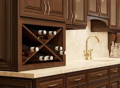 Wine Bottle Rack - Kitchen Envy Cabinets