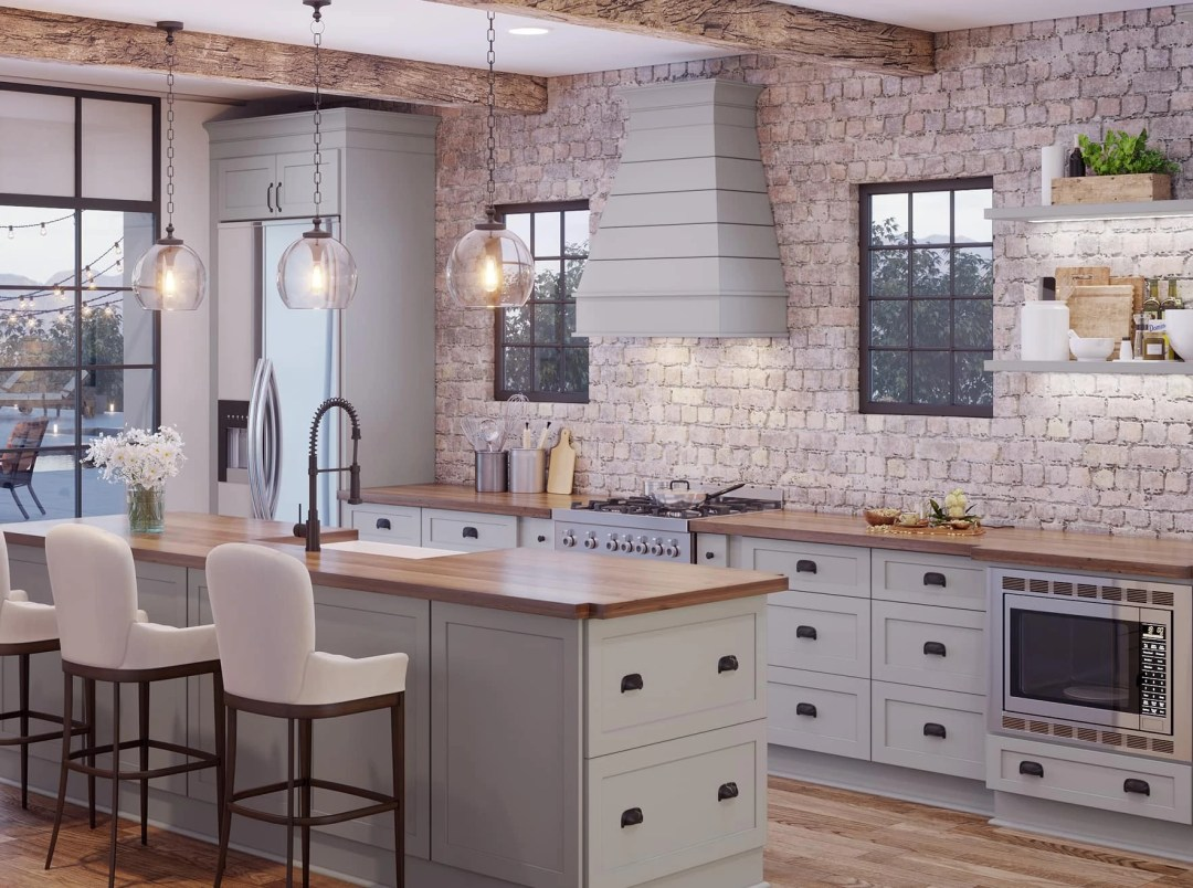 Tapered Wood Range Hood - Raleigh - Kitchen Envy Cabinets