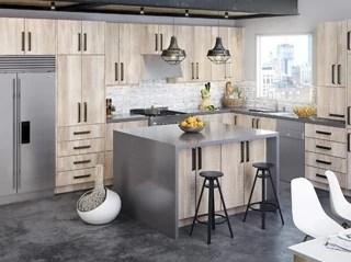Modern Frameless Beach Inspired Kitchen Cabinets - Kitchen Envy Cabinets