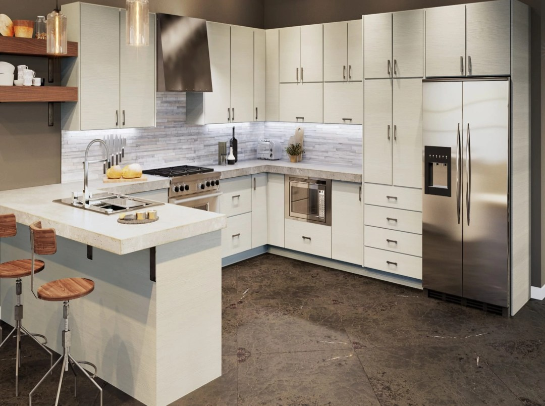 Torino White Kitchen Cabinets - Kitchen Envy Cabinets