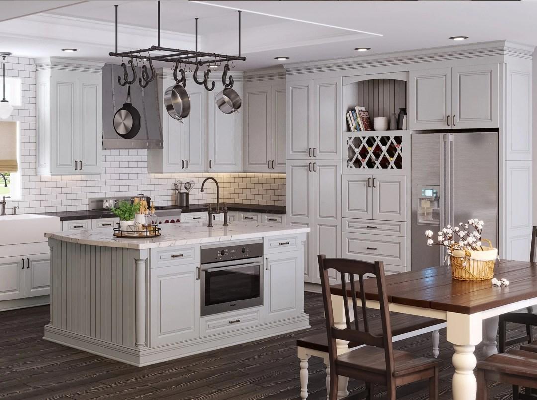 Torrance Framed RTA Kitchen Cabinets in Dove - Kitchen Envy Cabinets