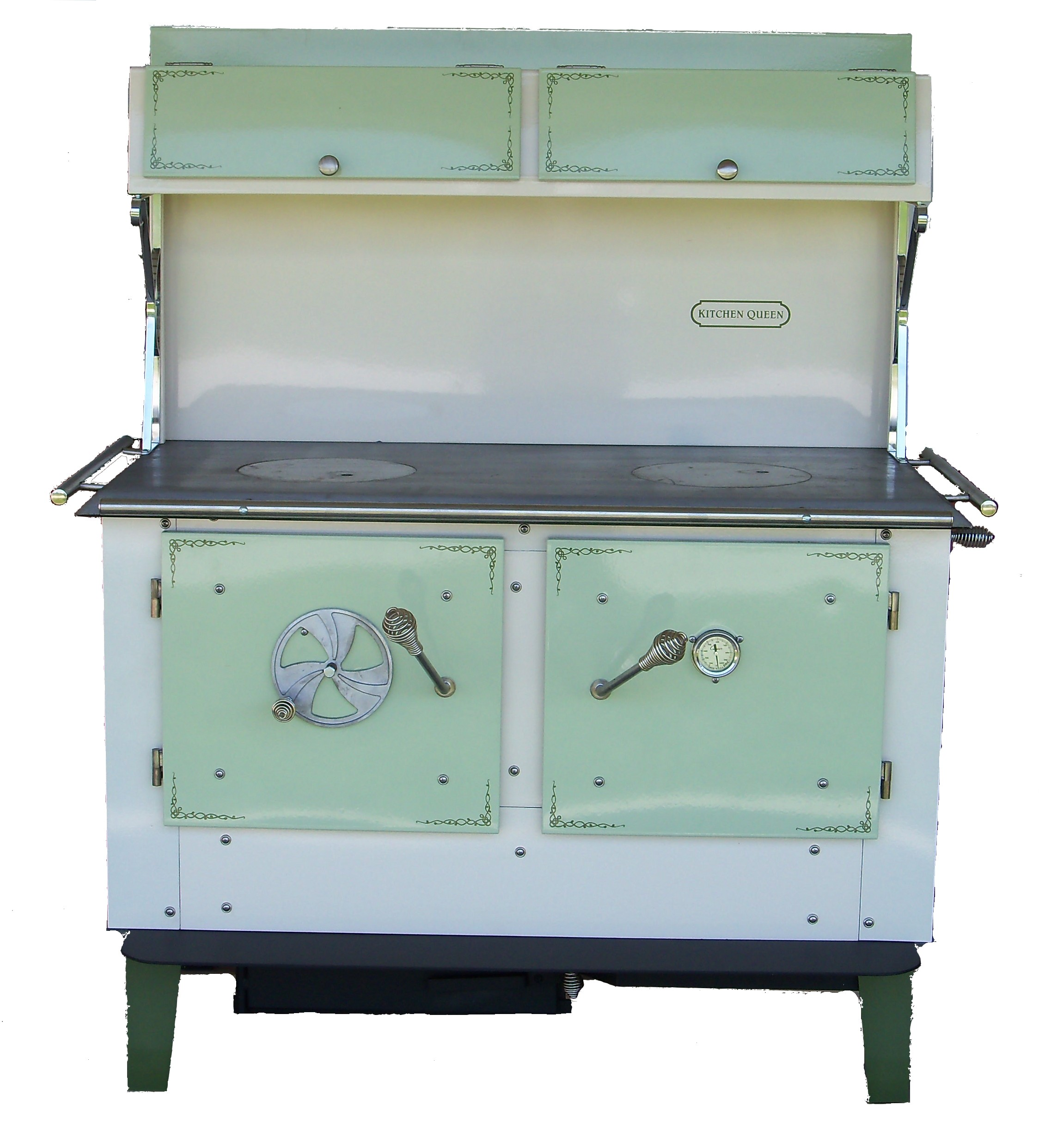 kitchen cook stoves sponge holder queen wood stove green and cream 480