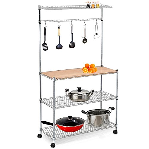 Yaheetech 4 Tier Stainless Steel Metal Wire Kitchen Bakers ...