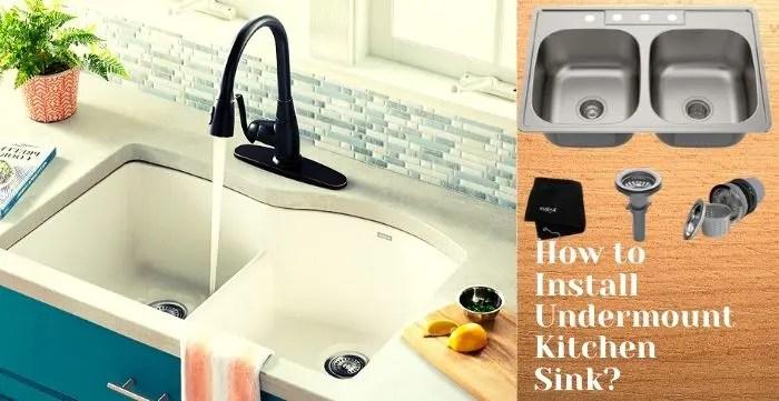 install undermount kitchen sink step