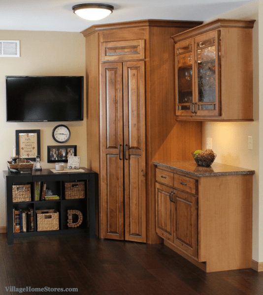 corner kitchen pantry cabinet walk-through pantry Archives - Village Home Stores Blog
