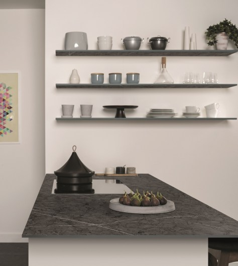 Bushboard Evolve solid core Luna kitchen ultra-slim worksurfaces