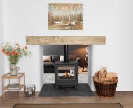 Mendip Stoves double sided wood burner