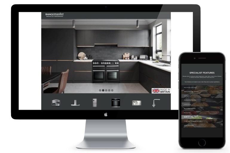 Rangemaster digital support interactive brand page