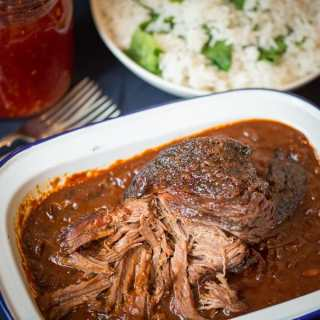 Caramelized Pulled Beef Brisket in a Rich Spicy Sauce