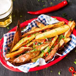 Garlic Chilli Oven Baked Fries