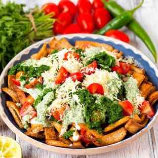 Healthy Nachos with Salsa Verde