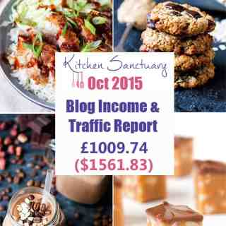 Blog Income and Traffic Report October 2015
