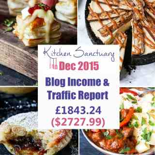 Blog Income and Traffic Report December 2015