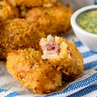 Baked Ham Hock and Cheddar Croquettes