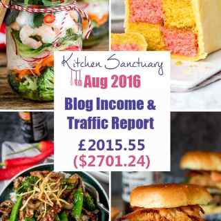 Blog Income and Traffic Report August 2016