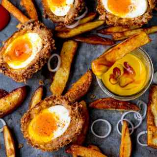 Chorizo Scotch Eggs with Smoky Wedges PLUS a Meal & Overnight Stay Giveaway