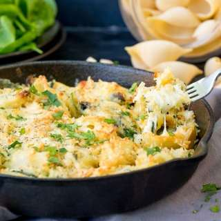 Garlic and Spinach Stuffed Pasta Shells and getting up on stage at the Big Feastival (eek!)