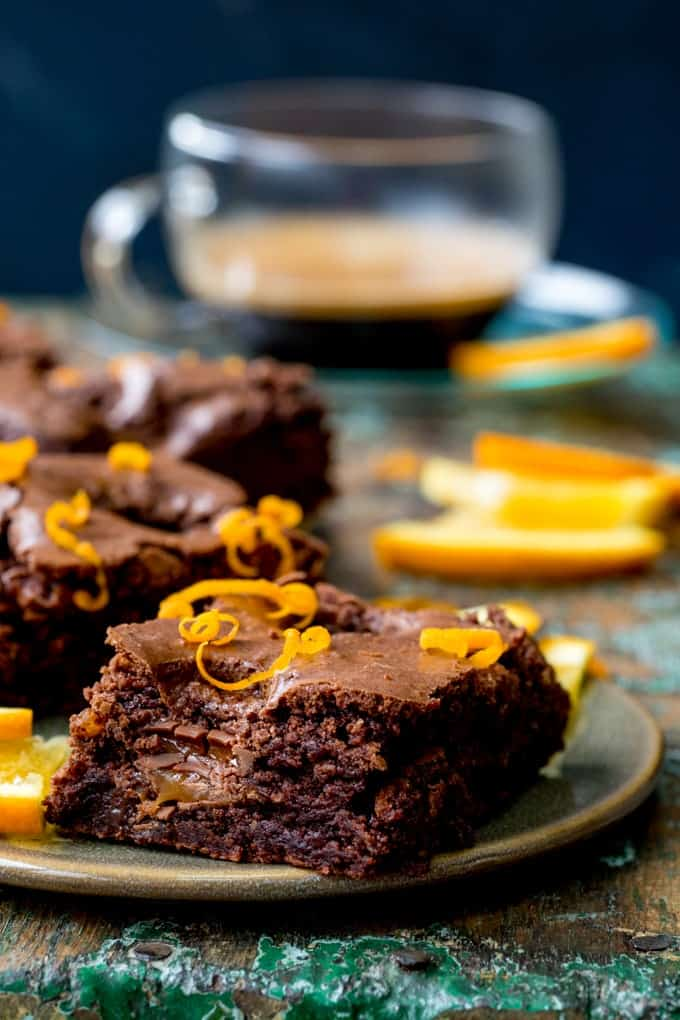 Chocolate Caramel Orange Brownies - Nicky's Kitchen Sanctuary