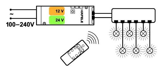 Cabinet Lighting, LOOX Premium 6-Channel Remote Receiver