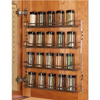Steel Wire Door Mount Spice Racks in Chrome and Champagne ...