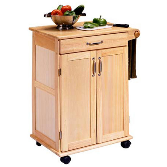 Home Styles Natural Finish Kitchen Utility Cart  HS5040