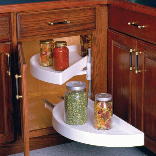 outdoor kitchen cabinets polymer second hand units knape & vogt half-round 2-shelf lazy susan, pivot ...