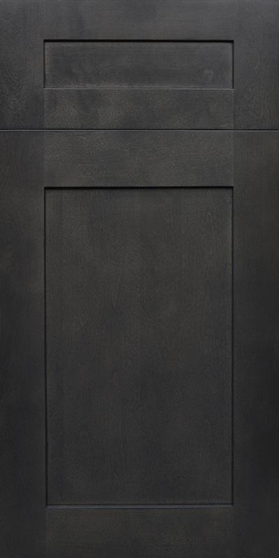 Ashton Stained Gray Shaker Kitchen Cabinet  Kitchen