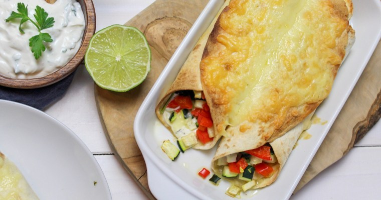 Vegetarisch gefüllte Enchiladas