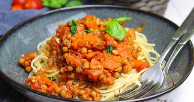 Linsen Bolognese vegan