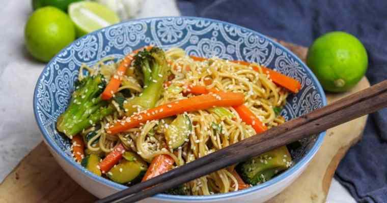 Fried sesame noodles