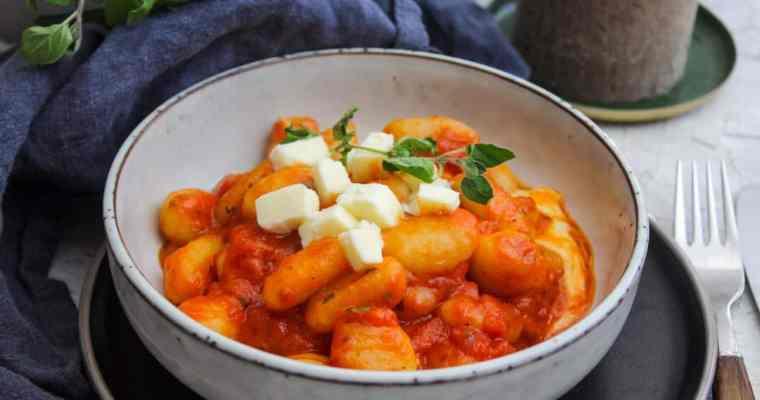 Tomaten Mozzarella Gnocchi
