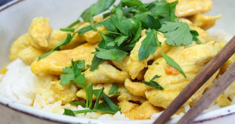 Hähnchen Curry mit Reis