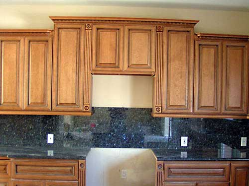 best kitchen cabinets hammered copper backsplash coffee glazed maple and bathroom vanities ...