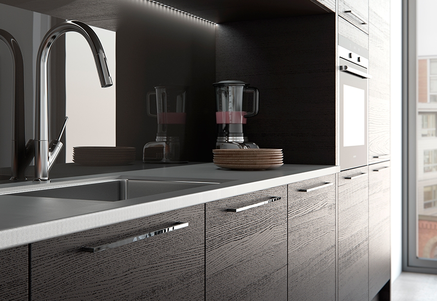 where to buy used kitchen cabinets ninja mega system bl771 tavola modern hacienda black & light grey | stori