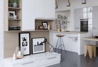 Zola Gloss Contemporary White & Light Grey | Kitchen Stori