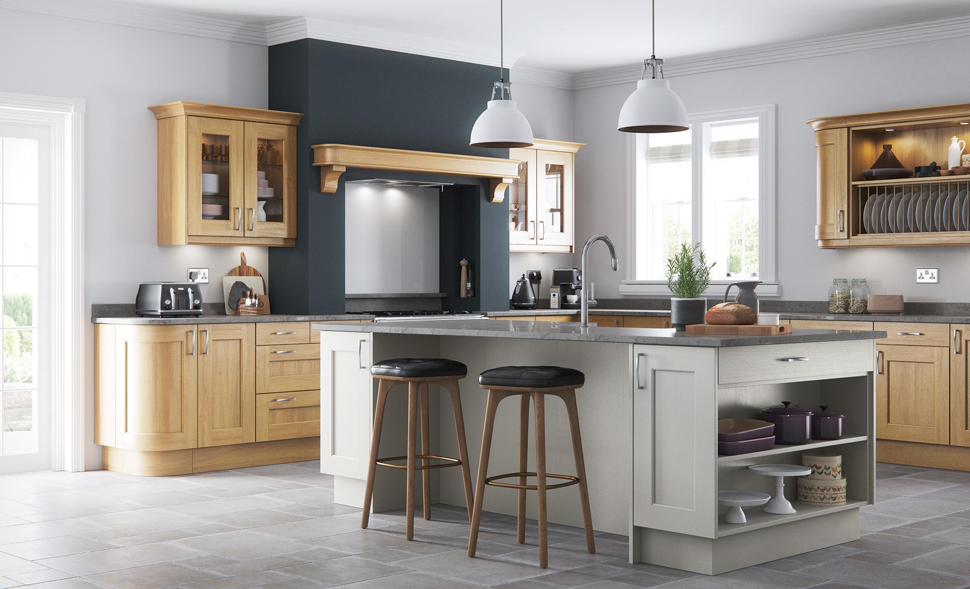 Wakefield Oak Stone Kitchen Stori