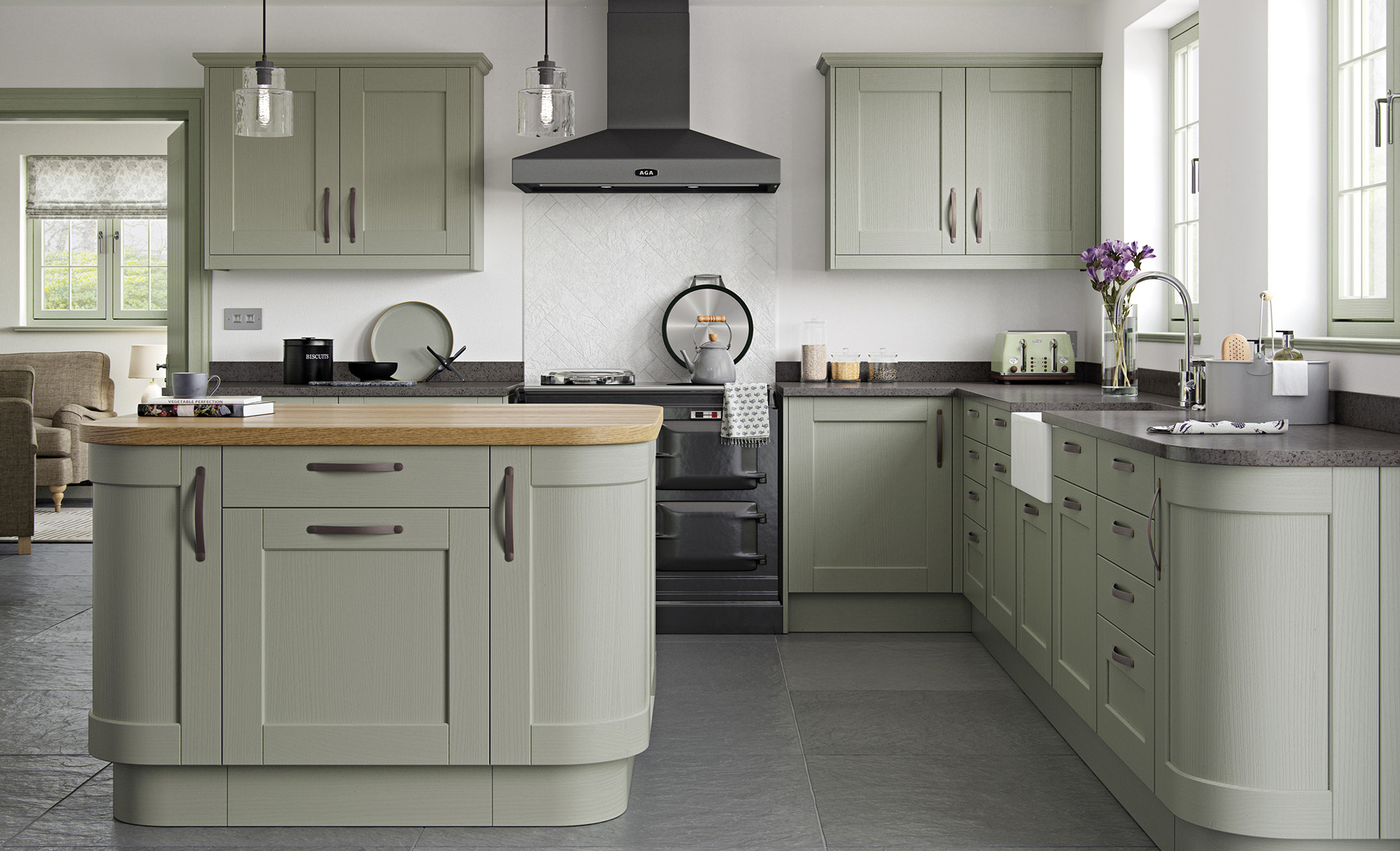 shaker style kitchen tile flooring for kensington classic sage green stori in painted