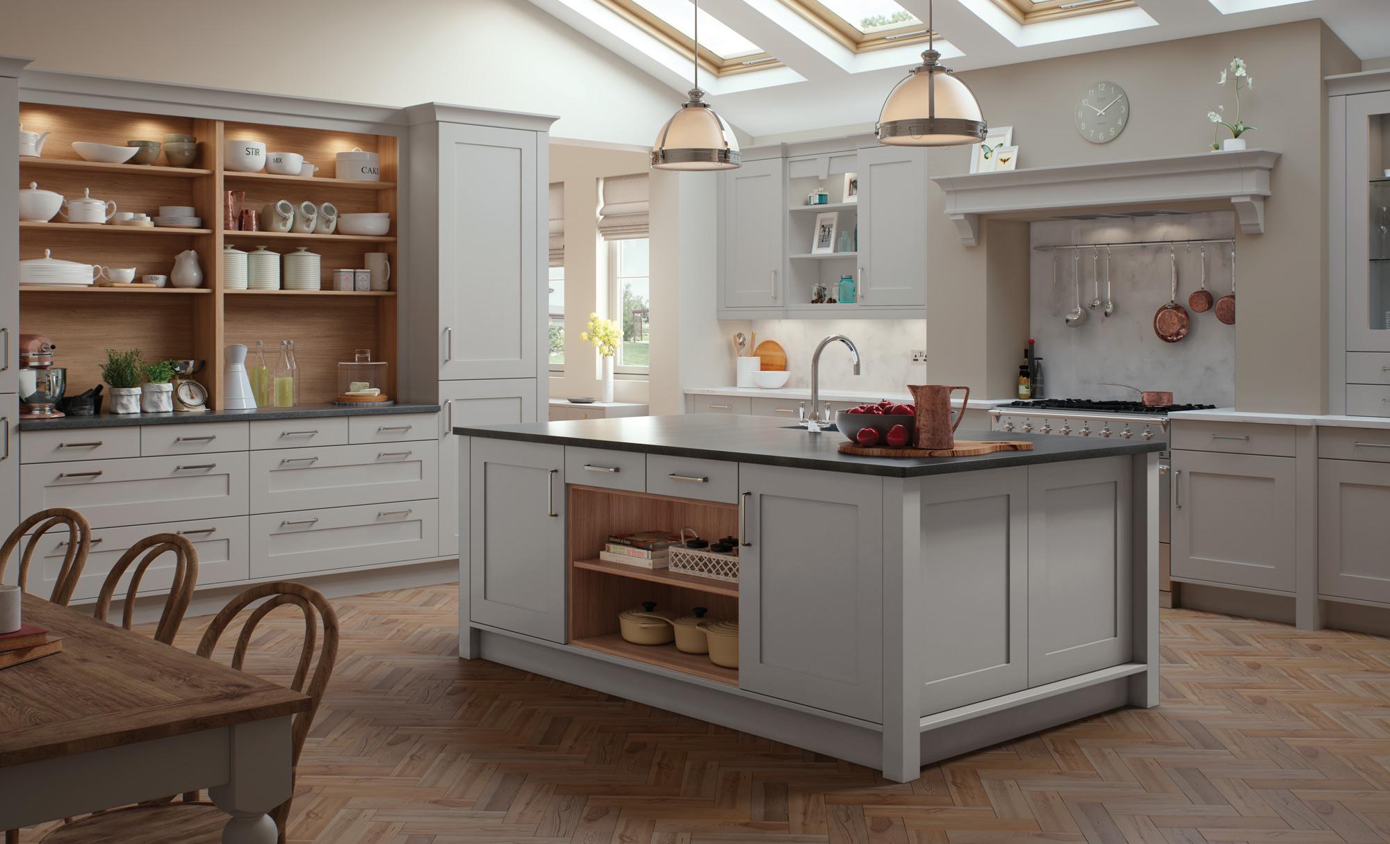 Best Kitchen Gallery: Georgia Modern Light Grey Kitchen Stori of Light Gray Kitchen Design on cal-ite.com