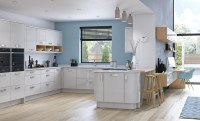 Zola Gloss Contemporary White & Light Grey | Kitchen Stori