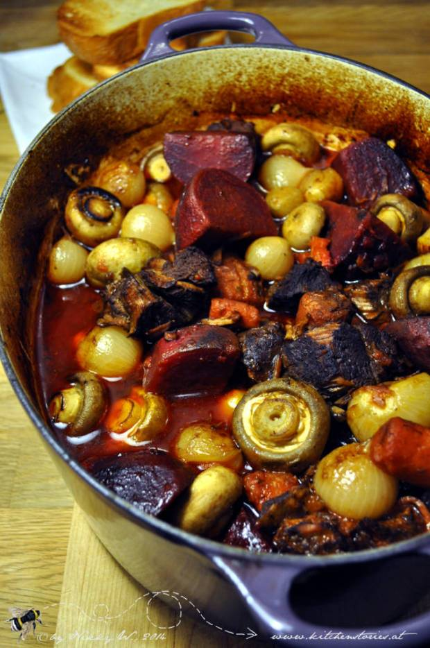 Beef and Beet Bourguignon_im Le Creuset