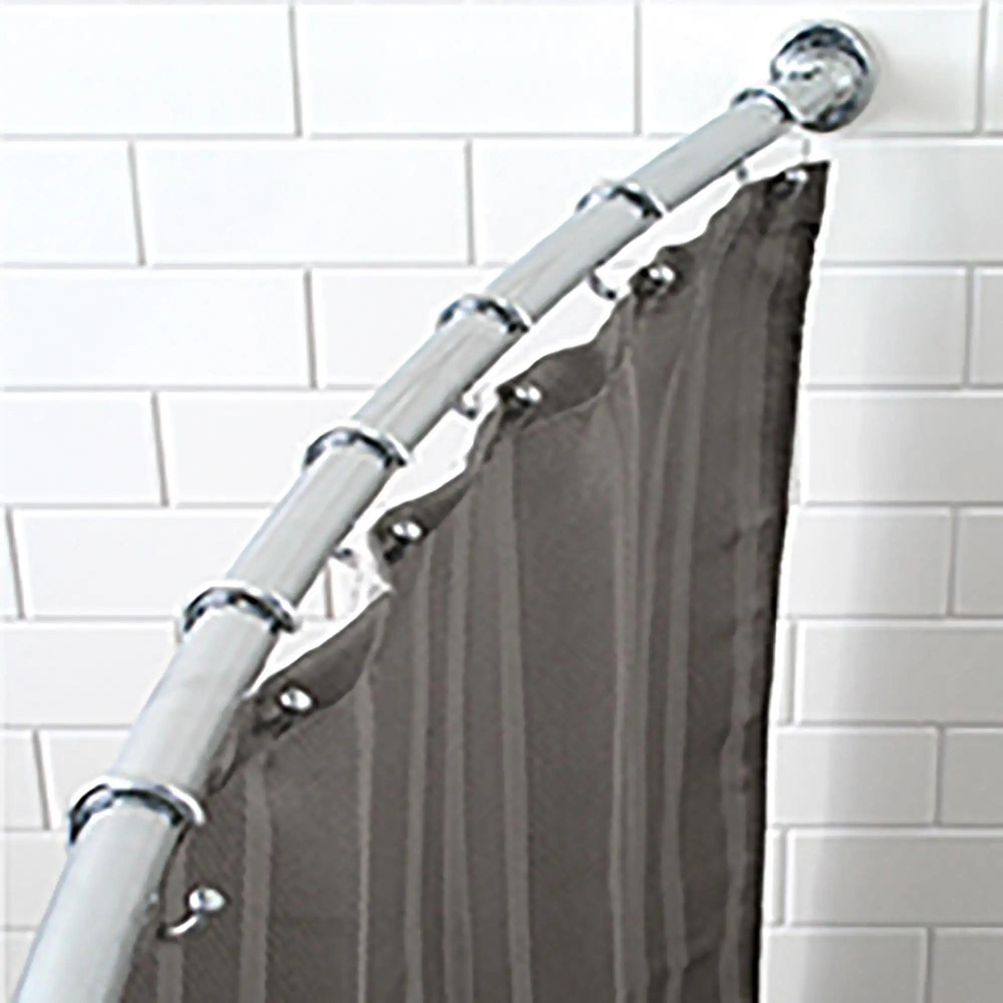 splash adjustable curved shower curtain rod