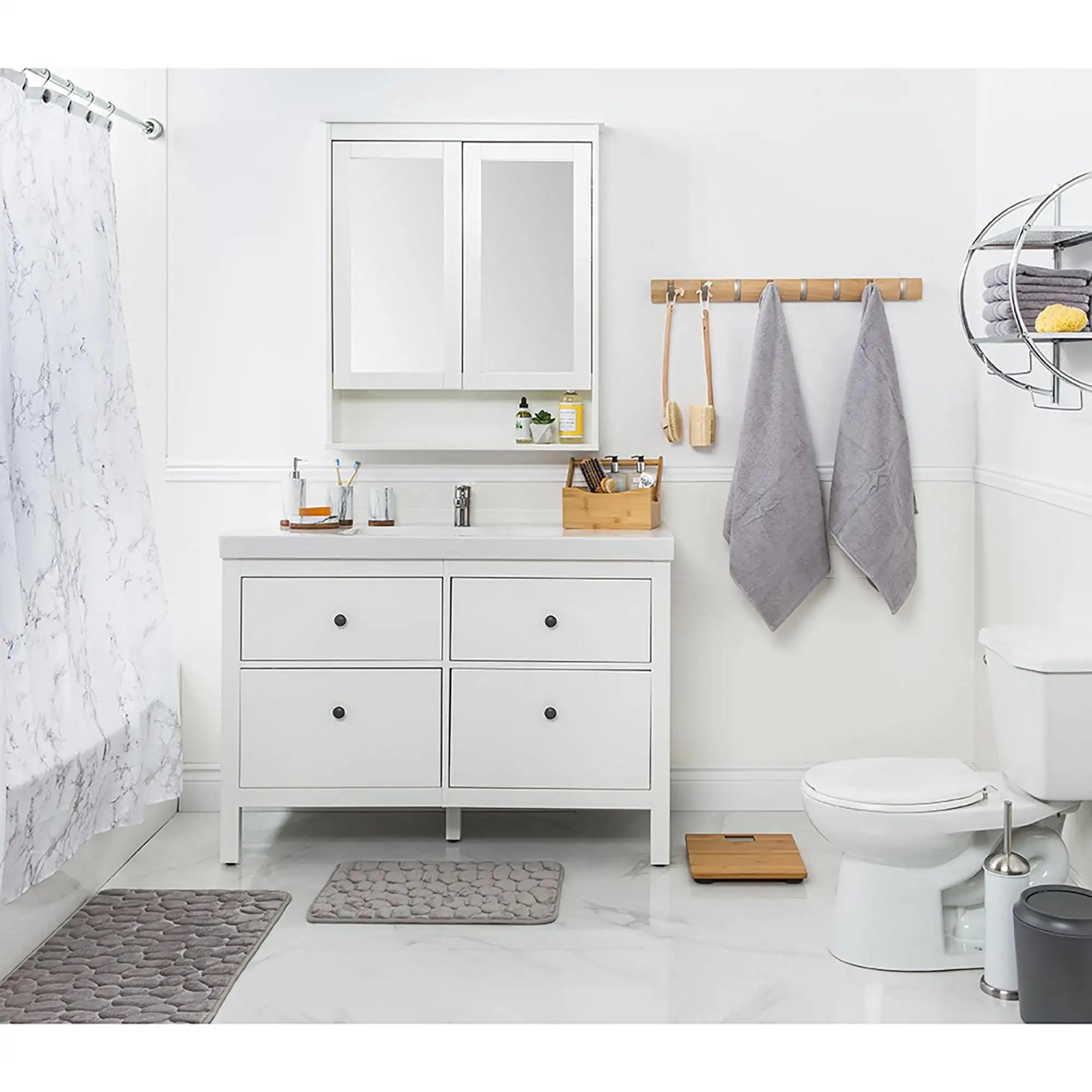 Splash Polyester Marble Shower Curtain Grey Kitchen Stuff Plus