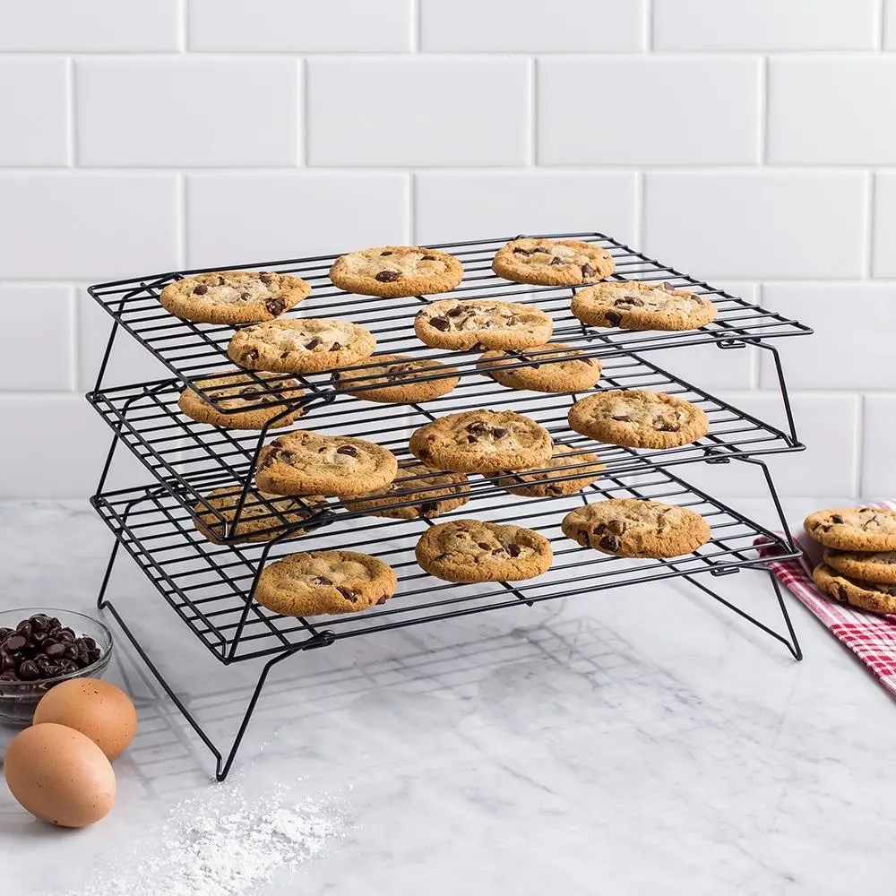 ksp bakers 3 tier non stick cooling rack