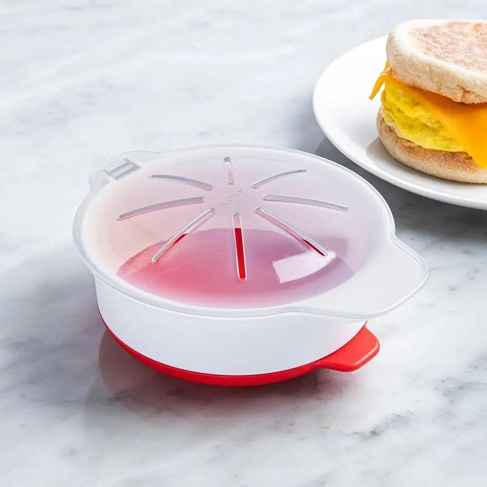 oxo good grips microwave egg cooker white